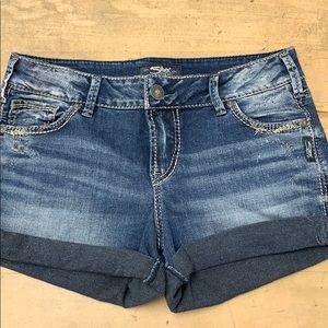Silver Elyse Denim Shorts